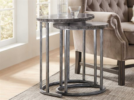 Hooker Furniture Brass Lacquer 24''L x 18''W Oval Nesting Table