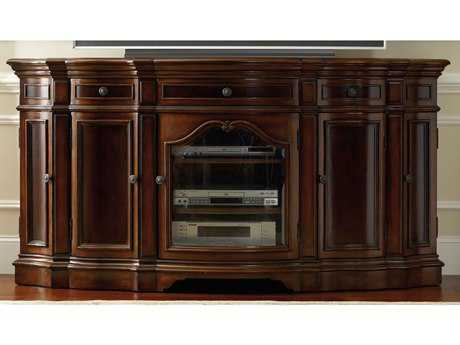 Hooker Furniture Dark Cherry 74''L x 23''W Demilune Entertainment Console HOO513955496