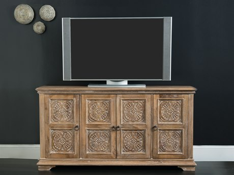 Hooker Furniture Light Wood 68''L x 18''W Rectangular Entertainment Console HOO551555468LTWD