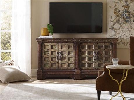 Hooker Furniture Dark Wood 72''L x 20''W Rectangular Entertainment Console HOO551655476DKW