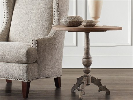 Hooker Furniture Light Wood 26'' Wide Round Accent End Table