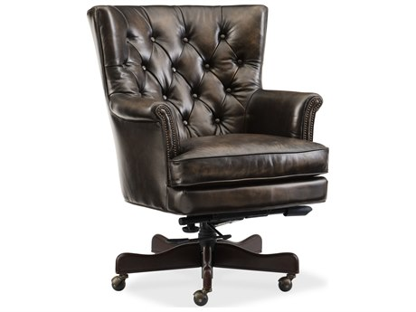Hooker Furniture Theodore Poetic License Tobacco with Natchez Brown Executive Chair HOOEC594088