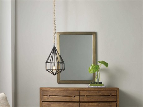 Hooker Furniture Transcend Antique Brass 40''W X 30''H Rectangular Wall Mirror HOO700090009