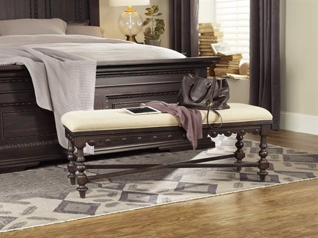 Hooker Furniture Treviso Rich Dark Macchiato Accent Bed Bench HOO537490019