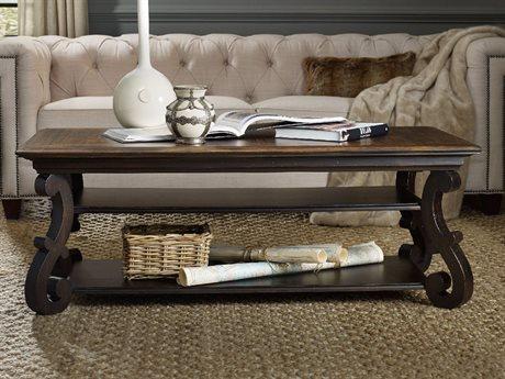 Hooker Furniture Treviso Black 54''L x 32''W Rectangular Cocktail Table HOO537480110