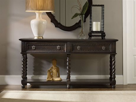Hooker Furniture Treviso Black 72''L x 19''W Rectangular Console Table