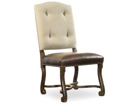 Hooker Furniture Treviso Camelback Rich Tobacco Dining Side Chair (OPEN BOX) OBX547475510OPENBOX