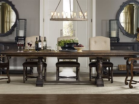 Hooker Furniture Treviso Dark Macchiato 81''L x 44''W Rectangular Dining Table