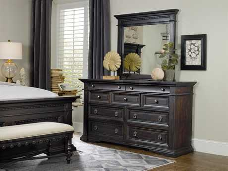 Hooker Furniture Treviso Rich Dark Macchiato Double Dresser & Mirror Set