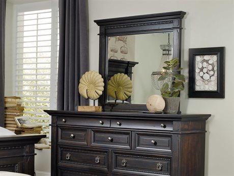 Hooker Furniture Treviso Rich Dark Macchiato 48''W x 41''H Rectangular Landscape Dresser Mirror HOO537490006
