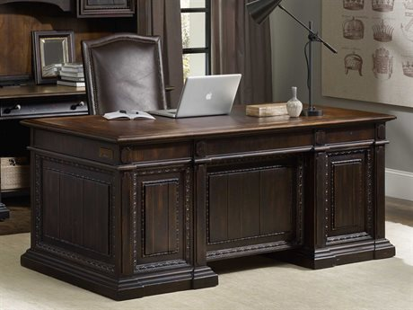Hooker Furniture Treviso Rich Dark Macchiato 72''L x 36''W Rectangular Executive Desk HOO537410563