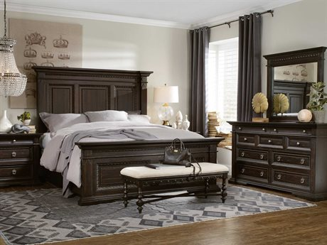 Hooker Furniture Treviso Wood Panel Bed Bedroom Set