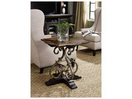 Hooker Furniture Treviso Black 24'' Wide Square Pedestal Table