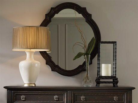 Hooker Furniture Treviso Rich Dark Macchiato 38''W x 44''H Oval Wall Mirror HOO537490008