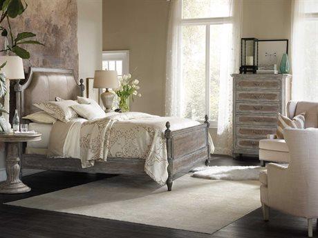 Hooker Furniture True Vintage Upholstered Panel Bed Bedroom Set