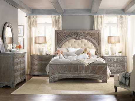 Hooker Furniture True Vintage Upholstered Panel Bed Bedroom Set