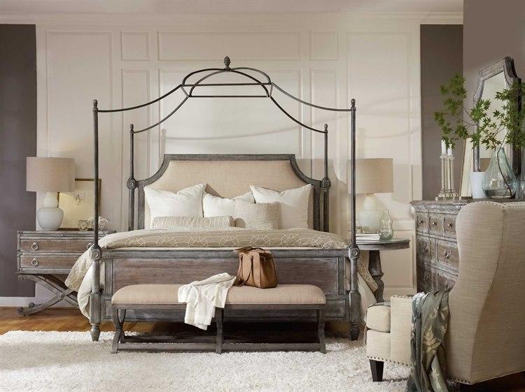 Hooker Furniture True Vintage Upholstered Canopy Bed Bedroom Set ...