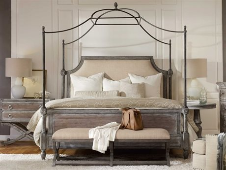 Hooker Furniture True Vintage Soft Driftwood King Size Canopy Bed HOO570190166