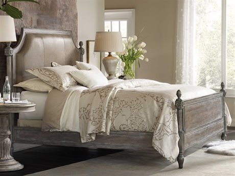 Hooker Furniture True Vintage Soft Driftwood King Size Poster Bed HOO570190666C