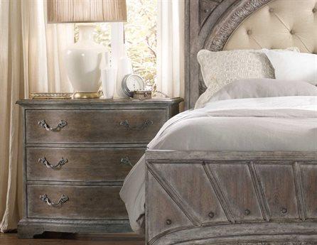 Hooker Furniture True Vintage Soft Driftwood 42''W x 20''D Bachelor Chest Nightstand