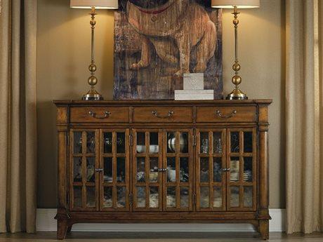 Hooker Furniture Tynecastle Medium Wood 66''L x 19''W Rectangular Buffets