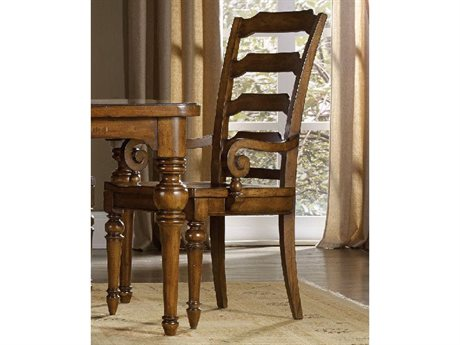 Hooker Furniture Tynecastle Ladderback Medium Wood Dining Arm Chair HOO532375300
