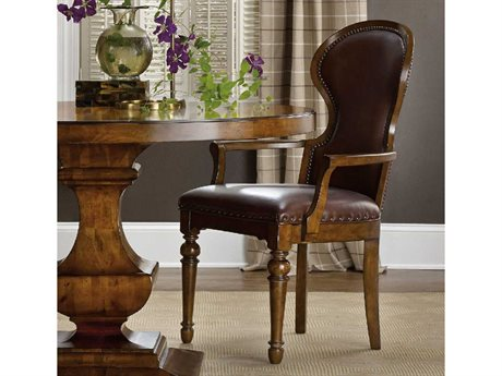 Hooker Furniture Tynecastle Medium Wood Arm Dining Chair HOO532375500