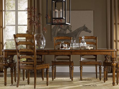 Hooker Furniture Tynecastle Medium Wood 78''-114''L x 44''W Rectangular Dining Table HOO532375200