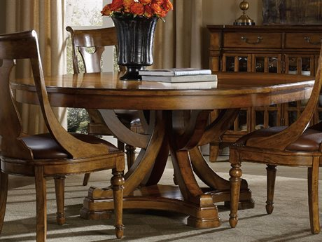 Hooker Furniture Tynecastle Medium Wood 60'' Wide Round Pedestal Dining Table HOO532375206