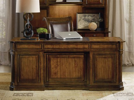 Hooker Furniture Tynecastle Medium Wood 72''L x 36''W Rectangular Executive Desk