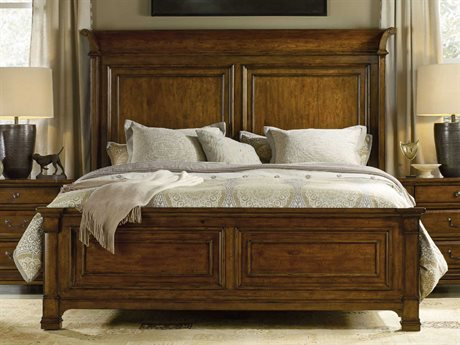 Hooker Furniture Tynecastle Medium Wood King Size Panel Bed HOO532390266