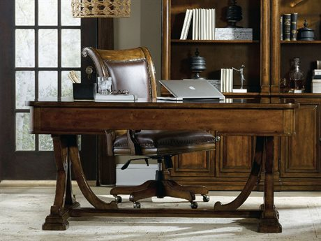Hooker Furniture Tynecastle Medium Wood 64''L x 34''W Rectangular Writing Desk HOO532310459