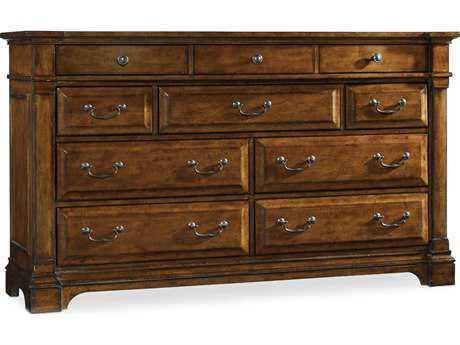 Hooker Furniture Tynecastle Medium Wood Triple Dresser HOO532390002