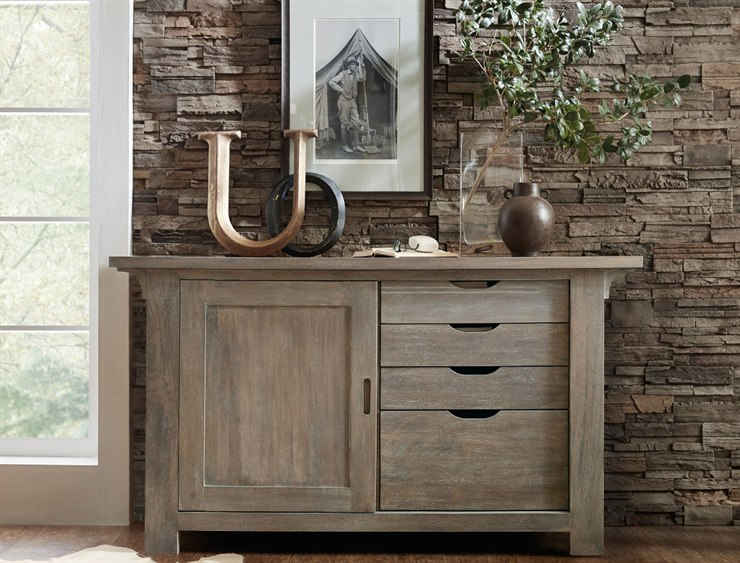 Hooker Furniture Urban Farmhouse Gray Credenza File Cabinet 5557 10434 GRY