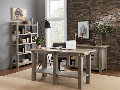 Hooker Furniture Urban Farmhouse Home Office Set HOO555710482GRYSET