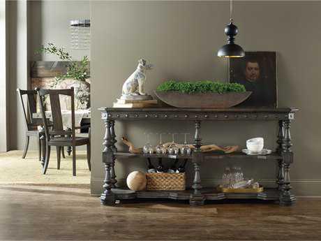 Hooker Furniture Vintage West Dramatic Dark Charcoal 72''L x 18''W Rectangular Sideboard
