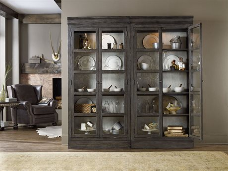 Hooker Furniture Vintage West Dramatic Dark Charcoal Bunching Curio HOO570075902