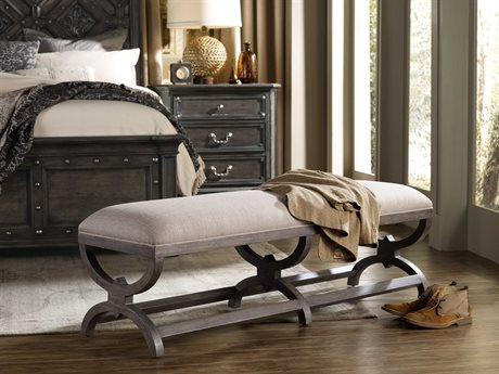 Hooker Furniture Vintage West Dramatic Dark Charcoal Accent Bench