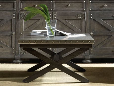Hooker Furniture Vintage West Dark charcoal 58''L x 38''W Rectangular X-Base Cocktail Table