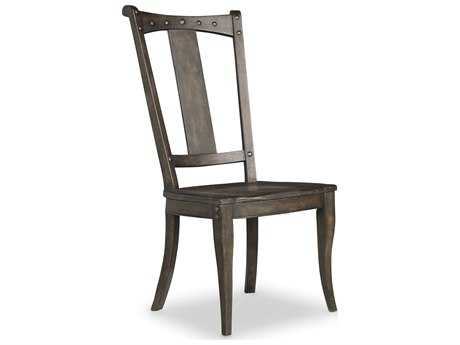 Hooker Furniture Vintage West Dramatic Dark Charcoal Finish With Decorative Nail Trim Side Dining Chair HOO570075310