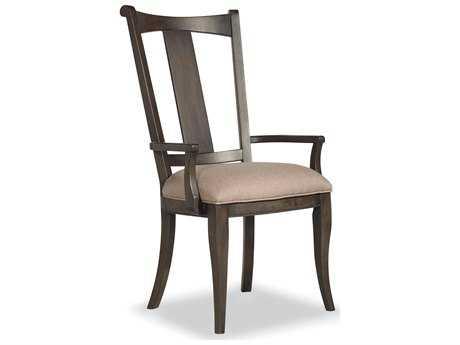 Hooker Furniture Vintage West Splatback Dramatic Dark Charcoal Dining Arm Chair