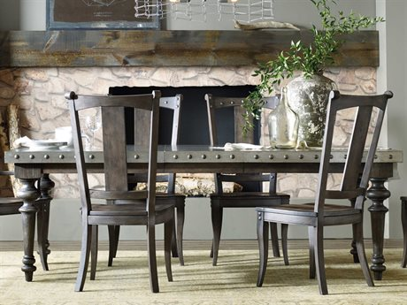 Hooker Furniture Vintage West Dramatic Dark Charcoal 73''L x 43''W Rectangular Dining Table