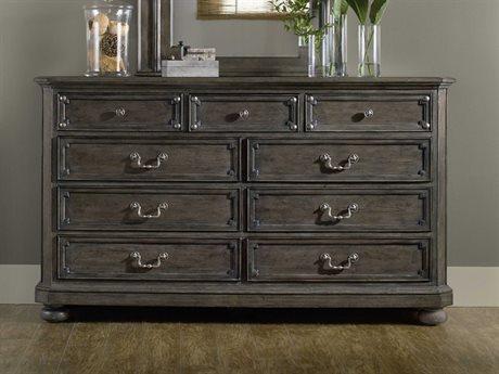 Hooker Furniture Vintage West Dramatic Dark Charcoal Double Dresser HOO570090002