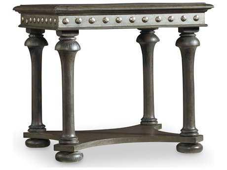 Hooker Furniture Vintage West Dark Charcoal 28''L x 24''W Rectangular End Table