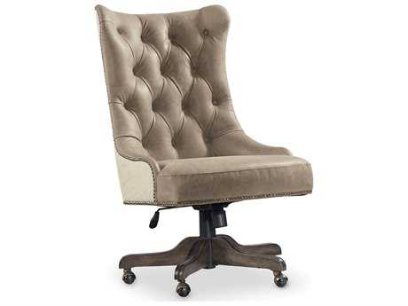 Hooker Furniture Vintage West Dramatic Dark Charcoal Executive Chair