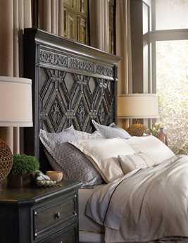 Hooker Furniture Vintage West Wood Panel Bed Bedroom Set