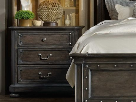 Hooker Furniture Vintage West Dramatic Dark Charcoal 34''W x 19''D Rectangular Nightstand