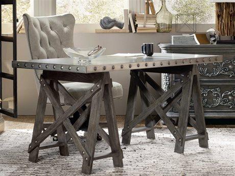Hooker Furniture Vintage West Dramatic Dark Charcoal 60''L x 32''W Rectangular Accent Writing Desk HOO570010458