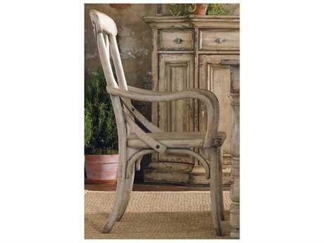 Hooker Furniture Wakefield X Back Taupe Dining Arm Chair HOO500475300