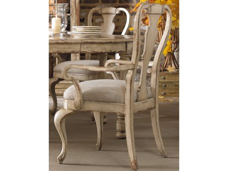 Hooker Furniture Wakefield White Splatback Taupe Dining Arm Chair HOO500475400